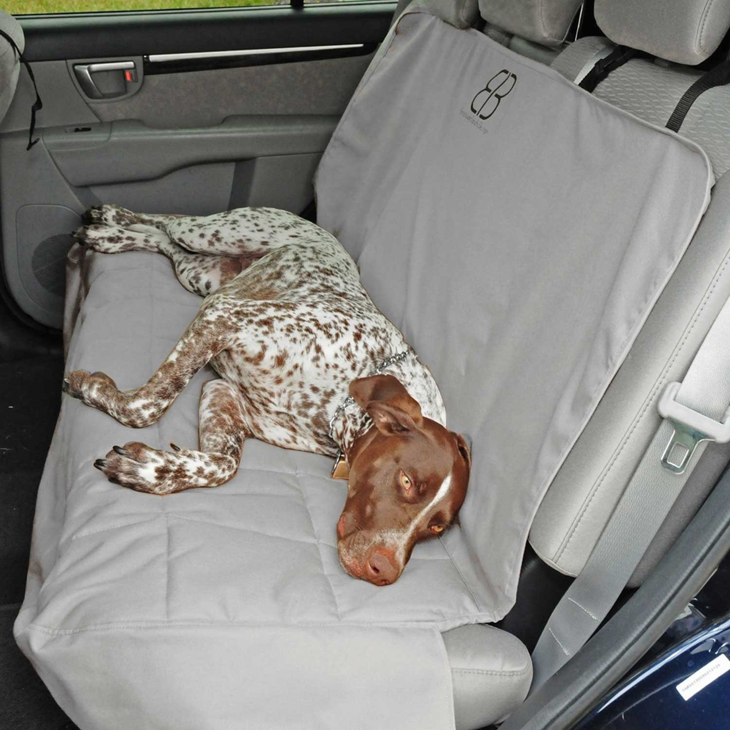 Motor Trend by Petego Rear Car Seat Protector for Pets, Gray, X-Large