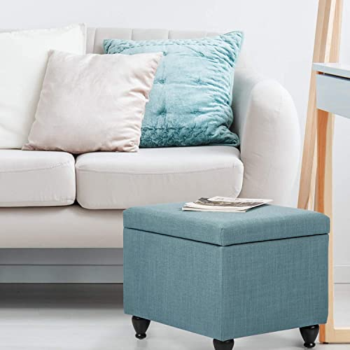 Edeco Storage Ottoman Foot Stool Bench