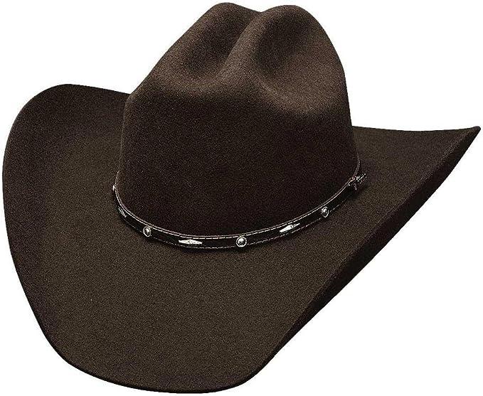 Cattleman ADDED MONEY Bullhide 7X Premium Wool Cowboy Hat Chocolate Brown