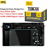 Taslar Tempered Glass Screen Protector for Sony DSLR Alpha A6000 A6300 A5000 NEX-3N NEX-6L Nex-7 NEX-6 NEX-5 Digital Camera,(Transparent)