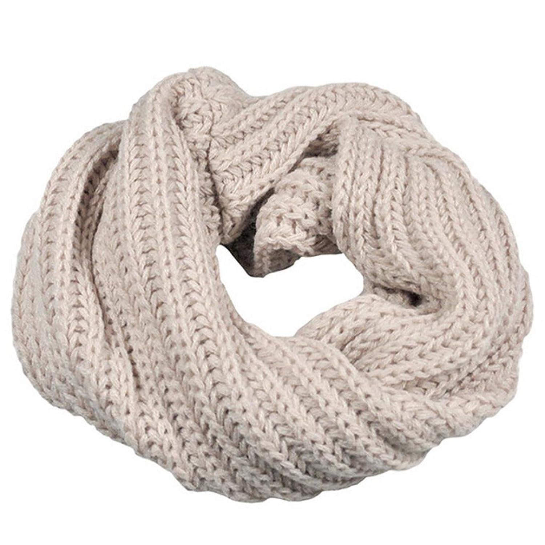 Écharpe Femmes, Amlaiworld Écharpe en laine de cercle tricotée Châle Wrap Collier chaud d'hiver
