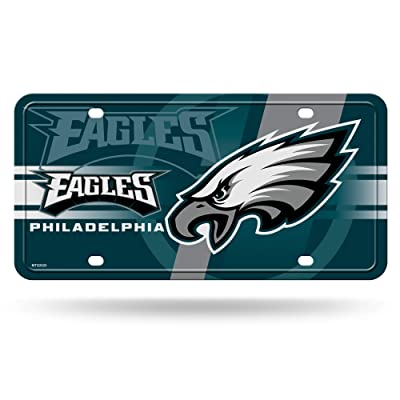 NFL Rico Industries Metal License Plate Tag, Philadelphia Eagles - Green Circle : Sports & Outdoors