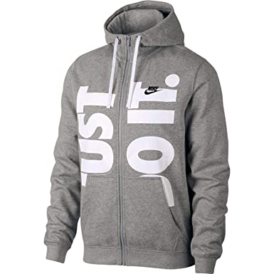 6e6c6b090 Nike Mens Sportswear Just Do It+ Full Zip Hoodie Sweatshirt at ...