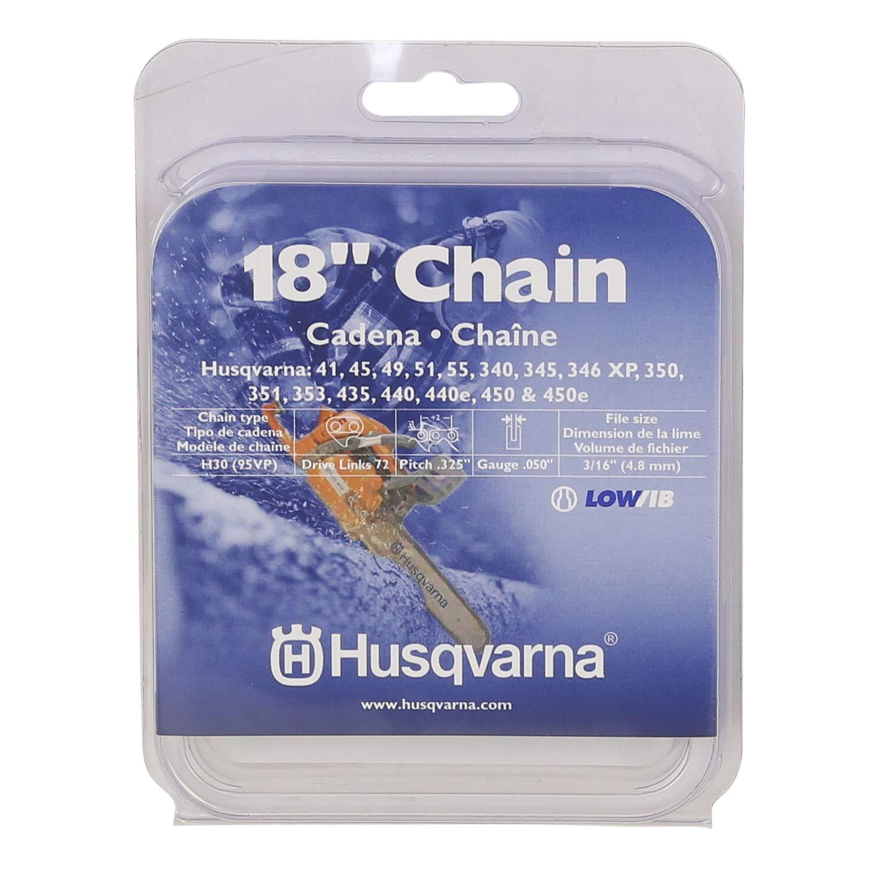 Husqvarna 531300439 18-Inch H30-72 (95VP) Pixel Saw Chain, .325-Inch by .050-Inch by Husqvarna