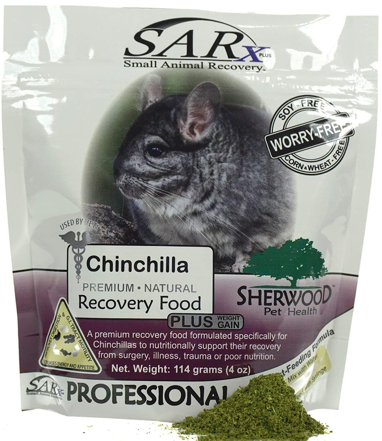 114 grams by Sherwood Pet Health compare to Critical Care Sherwood SARx PLUS for Chinchillas soy-free