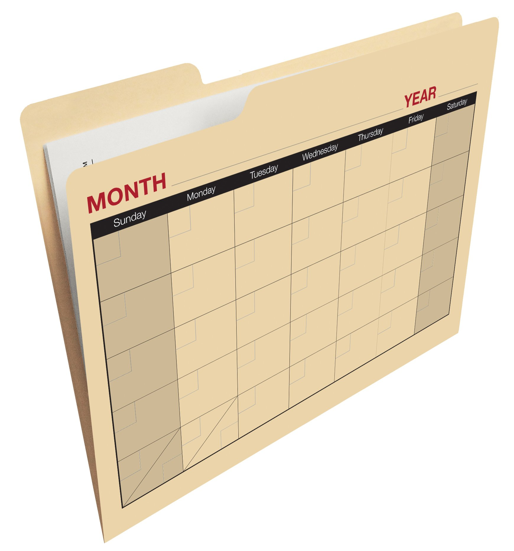 Find-It Calendar File Folders, 12 Pack, Manila (FT07465) by Find It (Image #1)