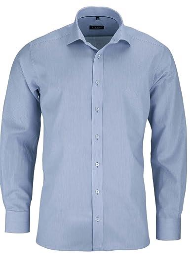 19ea23875793a eterna Modern Fit Shirt long sleeve blue   white striped W43