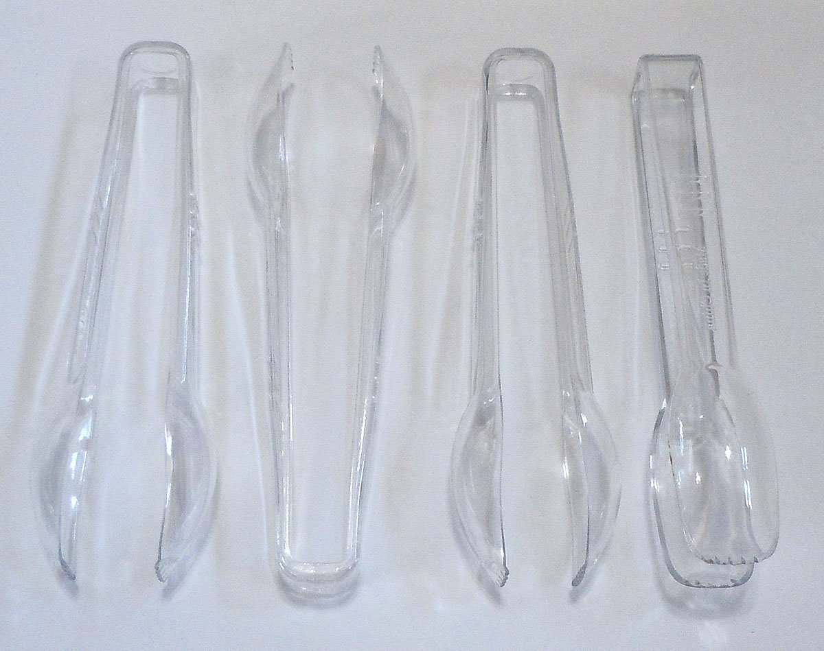 16 Clear Plastic Tongs, 6 1/2 Good Old Values G25559