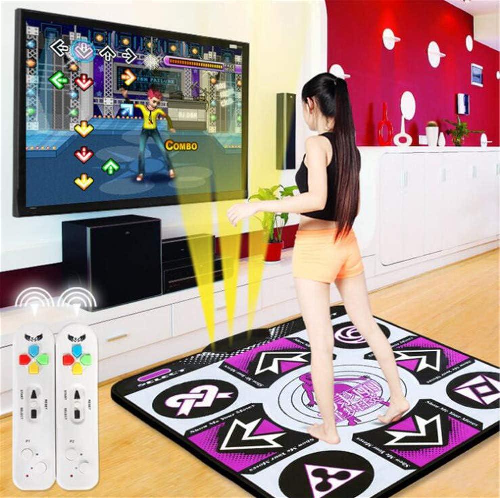 with Hundreds of Games,Two Wireless Handles GCFBCL Dance Rug TV Computer Game Pad,Dual-Purpose Somatosensory Dance Machine Wireless Dance Game Pad