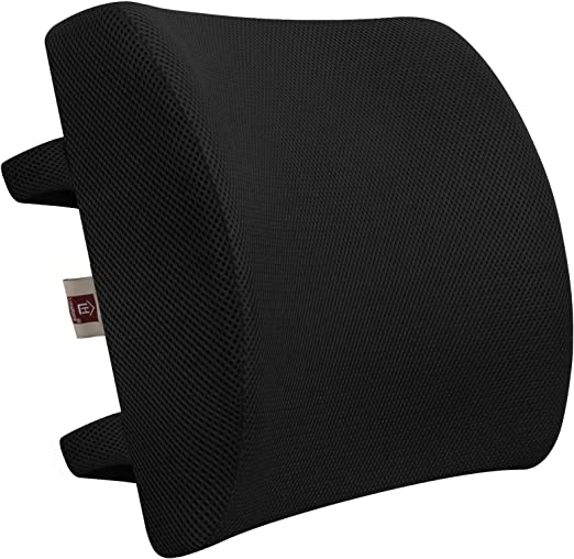 Amazon Com Lovehome Memory Foam Lumbar Support Back Cushion With 3d Mesh Cover Balanced Firmness Designed For Lower Back Pain Relief Ideal Back Pillow For Computer Office Chair Car Seat Recliner Etc Black