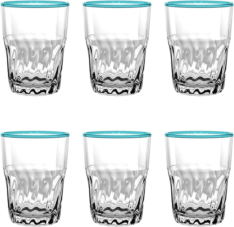 PCNDF150DPA - Rio - Set of 6 - Melamine Catina Wine Glass - Aqua - 15 oz by TarHong