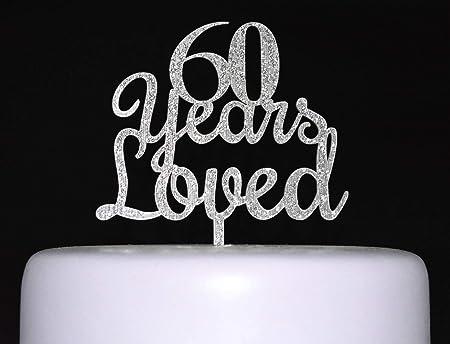 Decoración para tarta de 60 años para 60 cumpleaños, boda ...