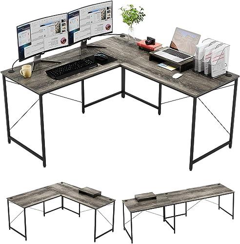 Bestier Industrial L-Shaped Gaming Desk