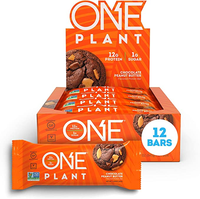 ONE Chocolate Peanut Butter Plant Protein Bars