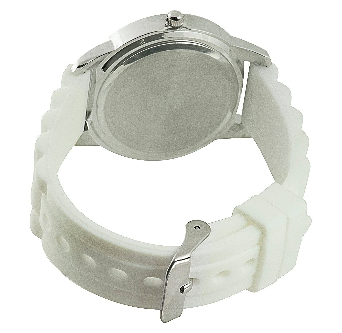 Amazon.com: Xhilaration Womens Watch With Silver Dial and White Silicone Strap: Watches