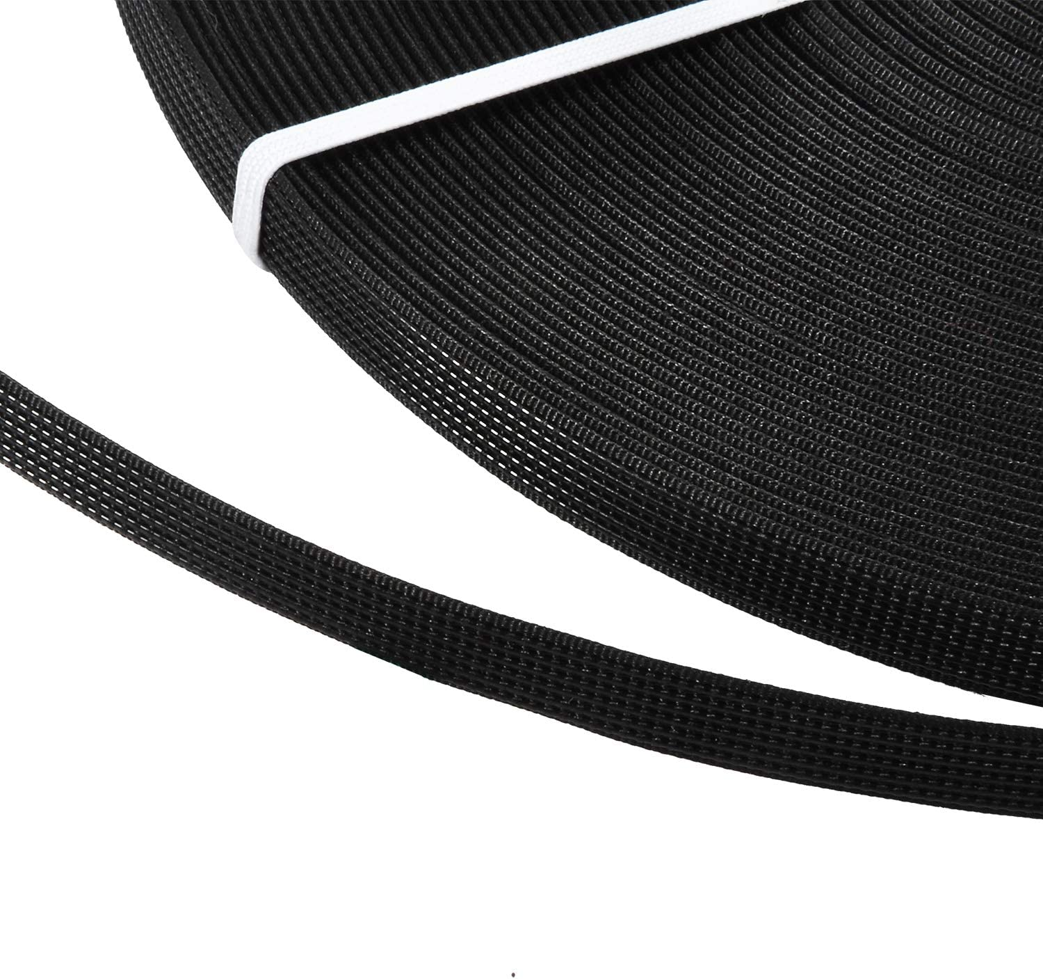 Black 10mm Width Yinkoe 50 Yards Polyester Boning White Boning Through Low Density Boning for Sewing Wedding Dresses Bridal Gowns Bustier Garments and Costumes