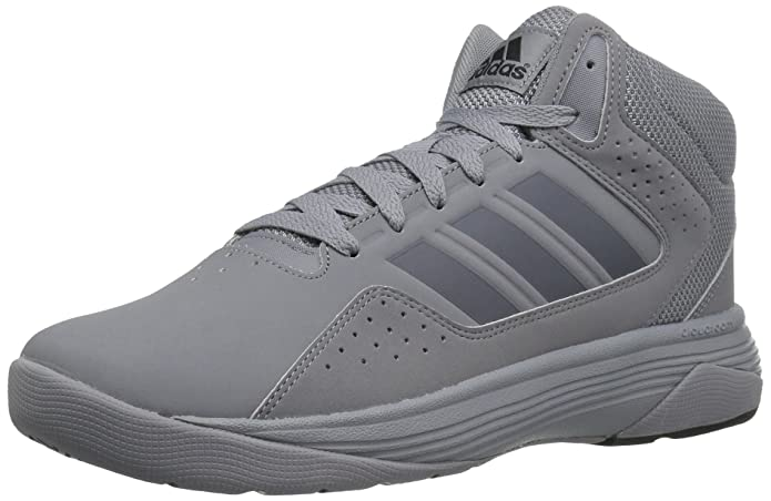 adidas NEO Men's Cloudfoam Ilation Mid Basketball Shoe, Grey/Onix/Black, 11 M US