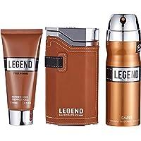 Emper Bath and Body Gift Set for Men, Legend - Perfume, Deodorant, Cream
