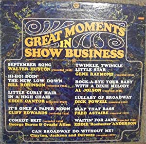 great moments in show business LP