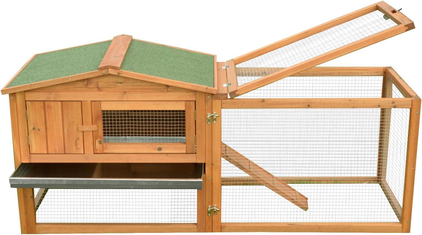 Conejos Jaula de conejos roedores gallinero 2 pisos cajón ...