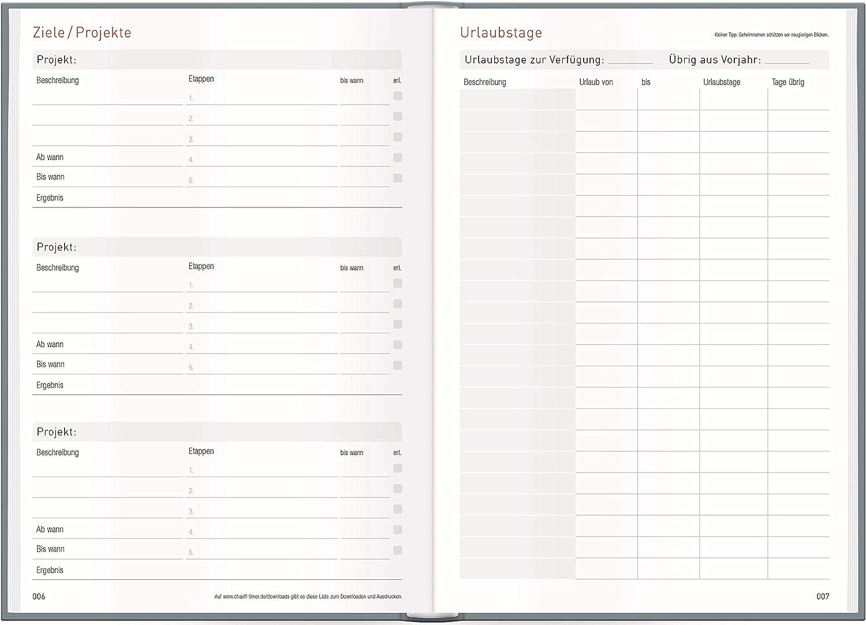 Ch/äff-Timer Mini A6 Kalender 2021 Organizer mit 1 Woche auf 2 Seiten Terminkalender mit Wochenplaner Goldbl/üte Wochenkalender Terminplaner nachhaltig /& klimaneutral