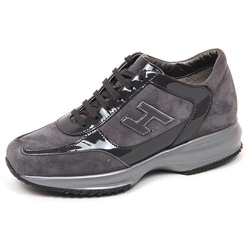 E4278 sneaker donna grey HOGAN INTERACTIVE scarpe H flock shoe woman