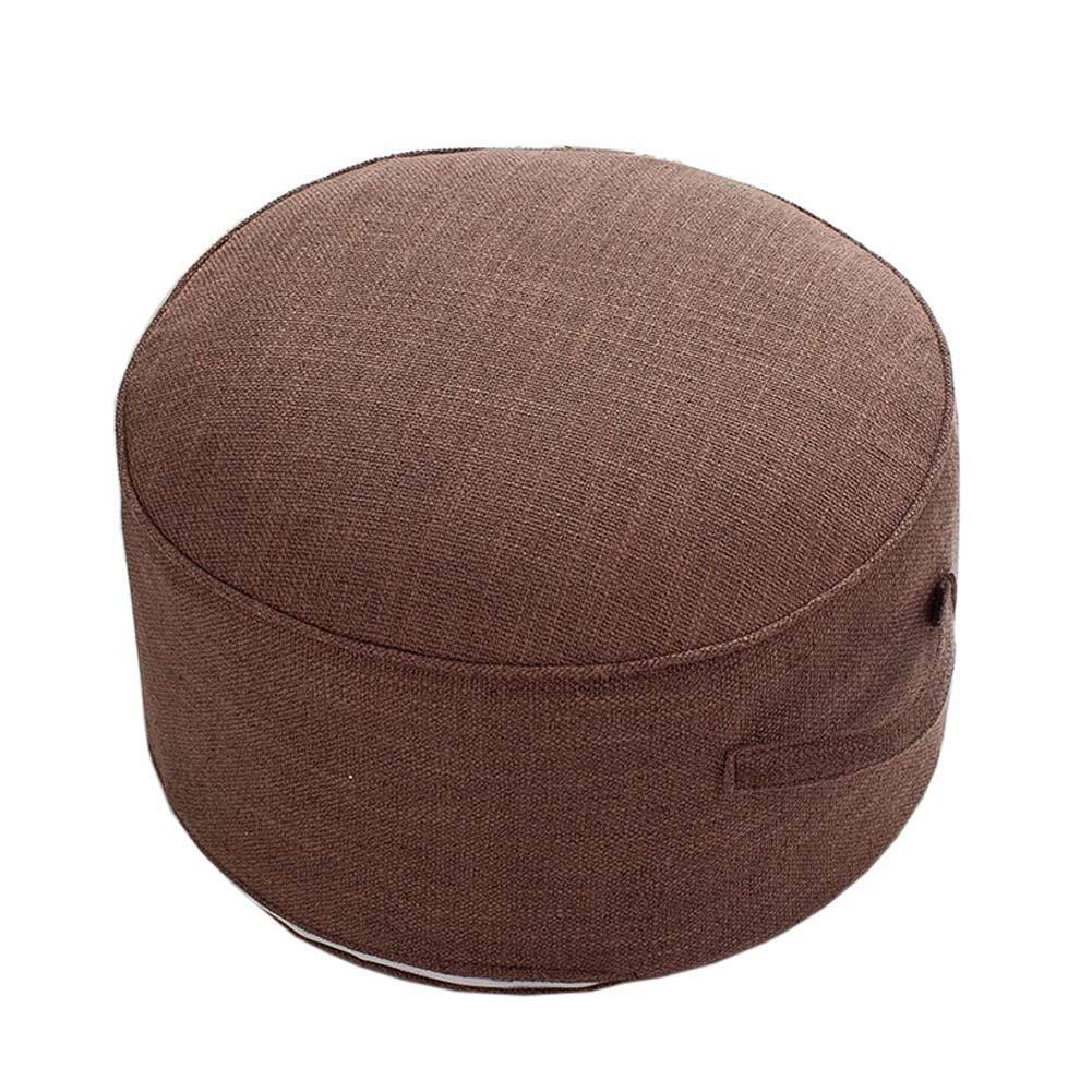 HUAWELL XL Meditation Pillow Floor Cushion Zafu Yoga Bolster Seat Cushion Organic Cotton Design Big and Beautiful (Coffee)