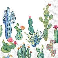 Servilletas de papel Boston International de 3 capas, 20 unidades, My Little Green Cactus