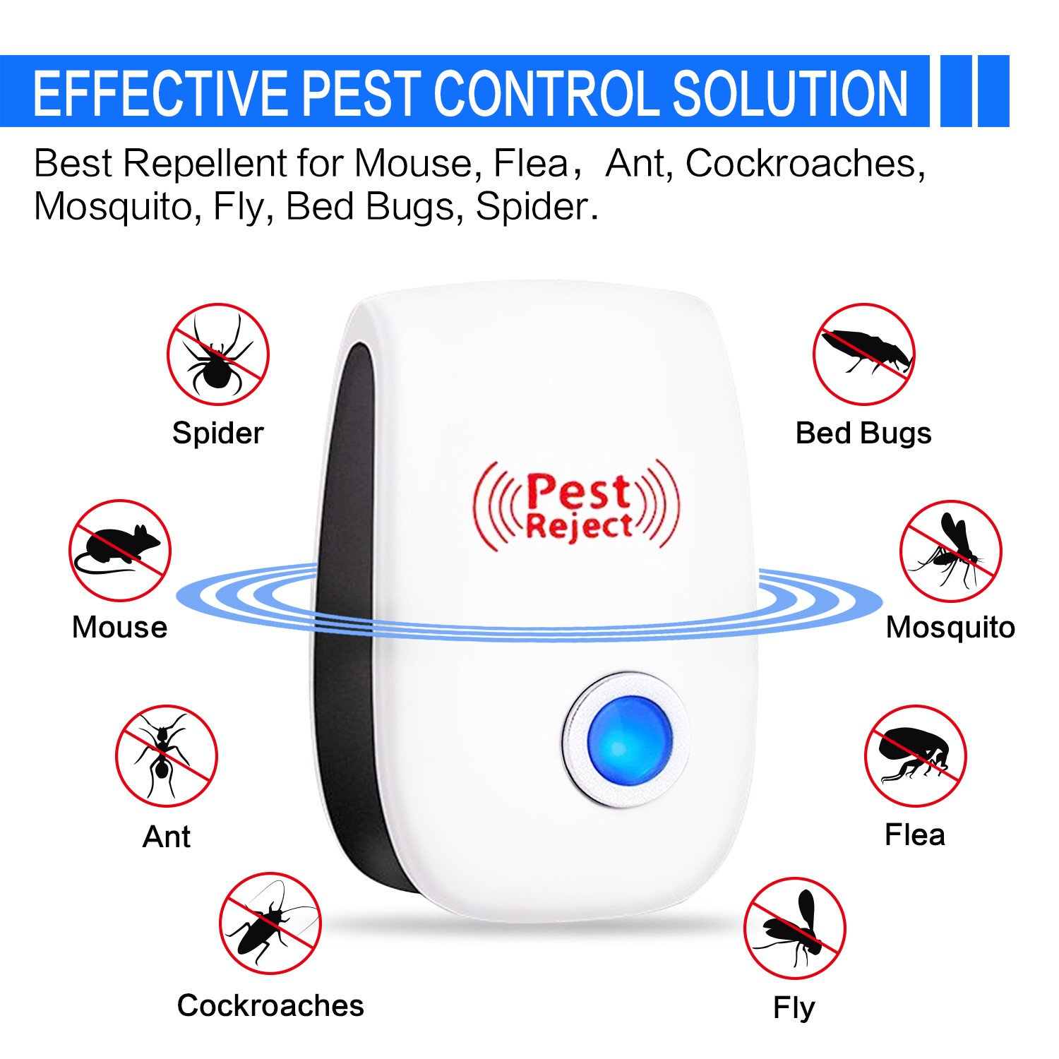 Ultrasonic Pest Repeller 4 Pack 2018 Upgraded 100 Mosquito Repellent Circuitbest Repellentindoor Control Indoor Plug In For Mice Cockroach Spider Ant Bug Insect Home Kitchen