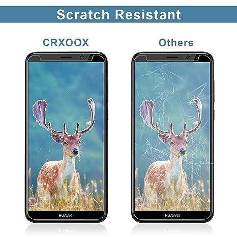 CRXOOX 3-Unidades Protector de Pantalla de Cristal Templado para Huawei Mate 10 Lite: Amazon.es: Electrónica