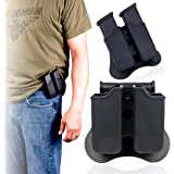 Glock Magazine Holder 9mm Magazine Holster The Ultimate Double Stack Glock Mag Holder with Paddle 9mm and .40 Caliber Magazine Pouch