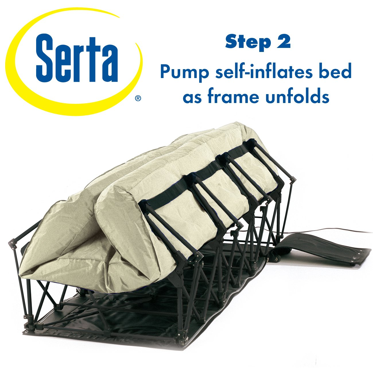 Amazon.com: Serta EZ Air Mattress with Never Flat Pump: Sports & Outdoors