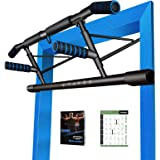 Kaufam Pull Up Bar Doorway Chin Up Bar Doorframe No Screw Hammer Grip Pullup Handles, Home Workout Equipment for Home Gym Ind