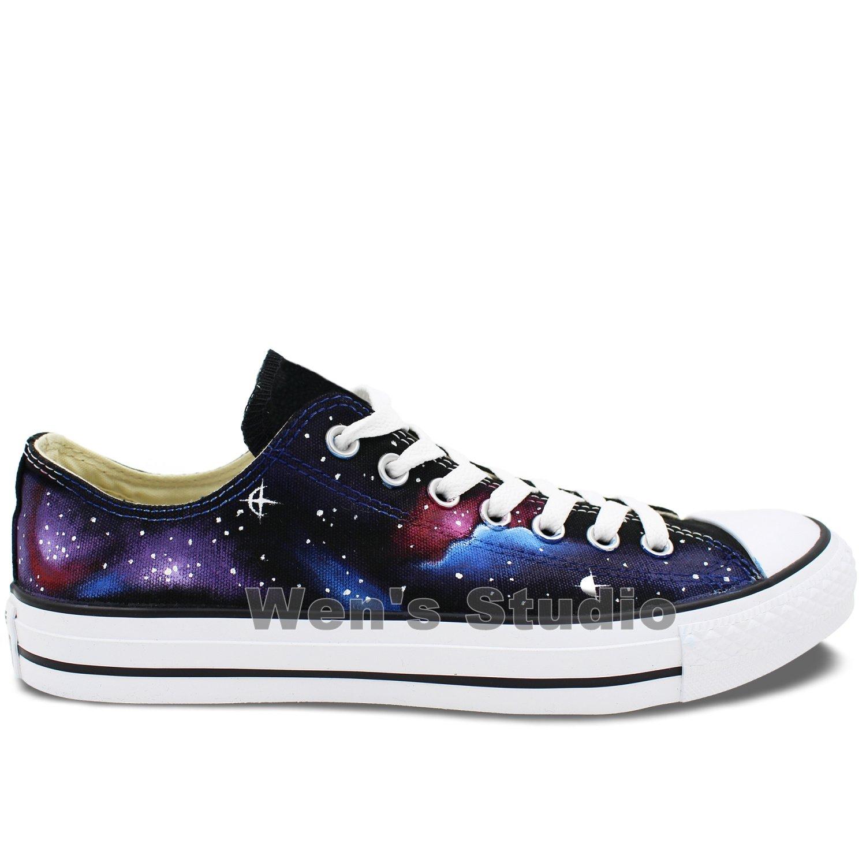 Wen Original Design Galaxy Low Top Hand Painted Shoes Canvas Women Men Sneaker