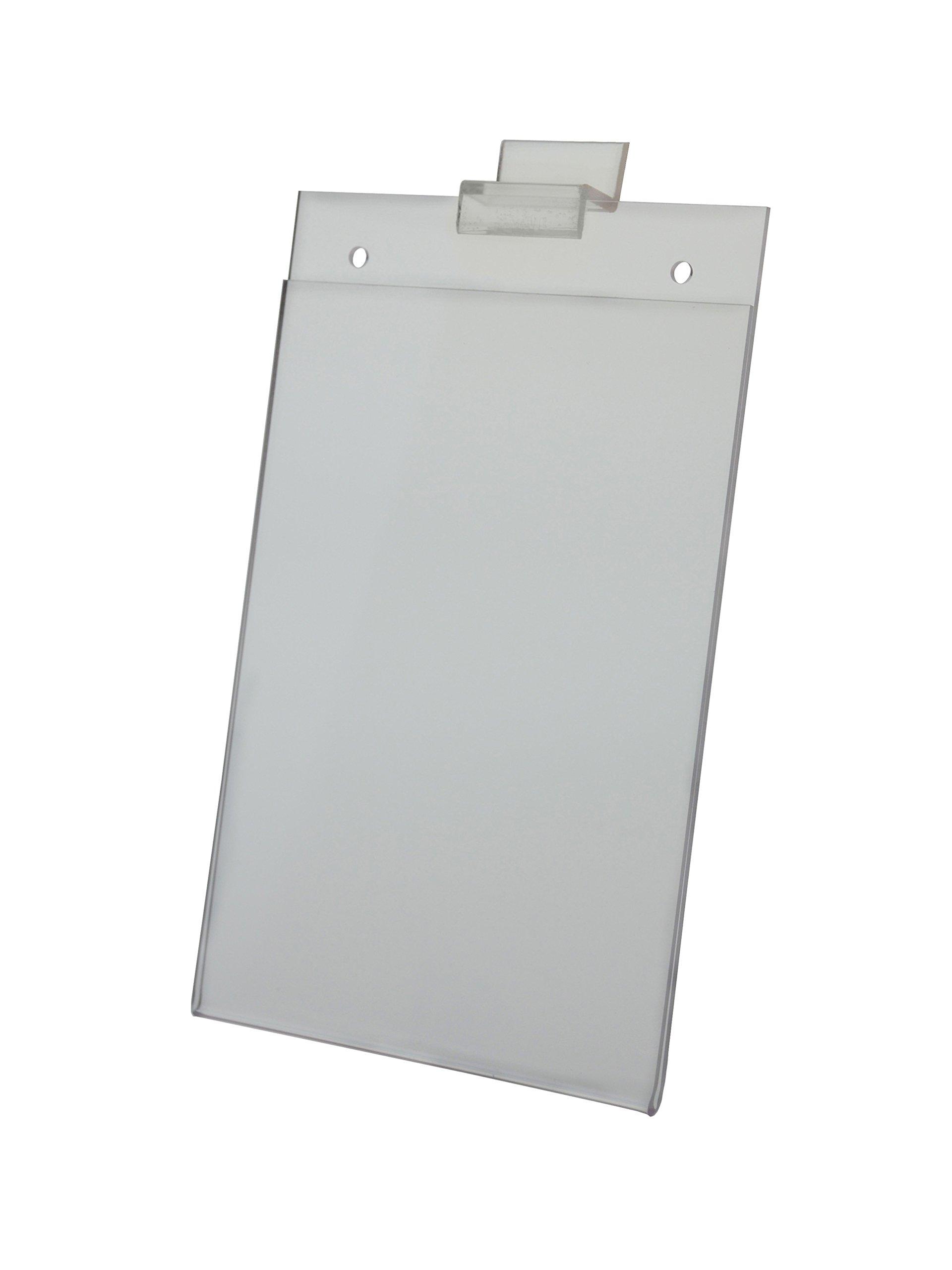 Acrylic Signholder 5-1/2''H x 7''W For Slatwall - Box Of 12 Slat Sign Holders