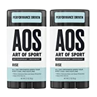 Art of Sport Men's Antiperspirant Deodorant (2-Pack) - Rise Scent - Antiperspirant for Men with Natural Botanicals Matcha and Arrowroot - Energizing Citrus Fragrance - Made for Athletes - 2.7oz