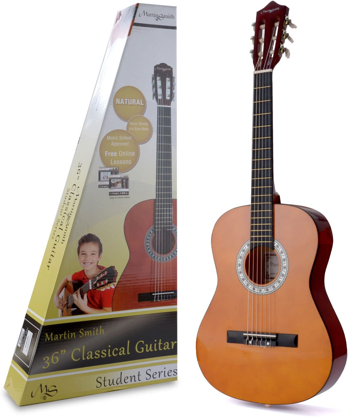 Martin Smith W-560 - Guitarra Clásica, Natural, 36 pulgadas ...