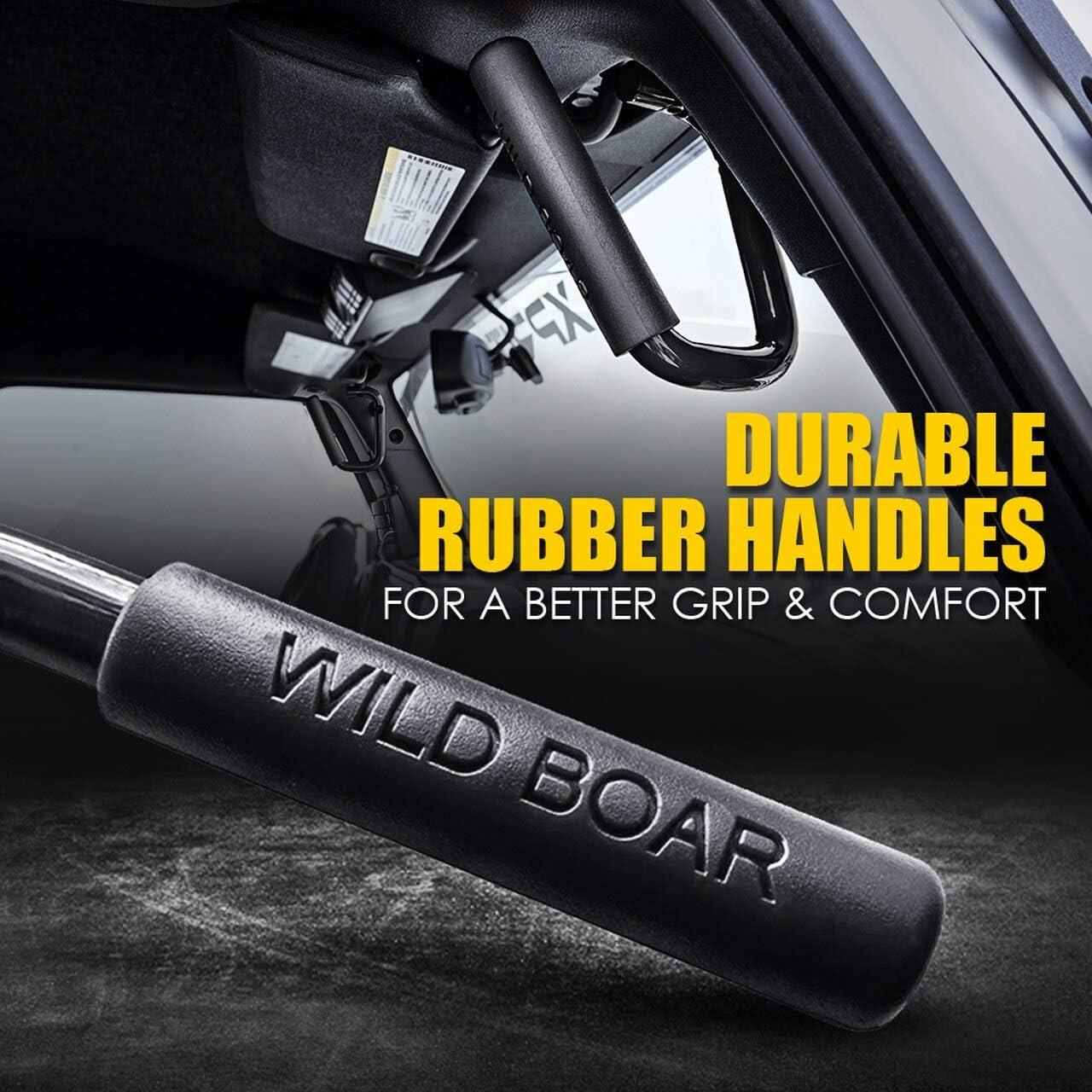 TuhooMall Front Grab Handles Grab Bars for Jeep Wrangler Grip Handle JK JKU Sports Sahara Freedom Rubicon X /& Unlimited X 2 Door 4 Door 2007-2018