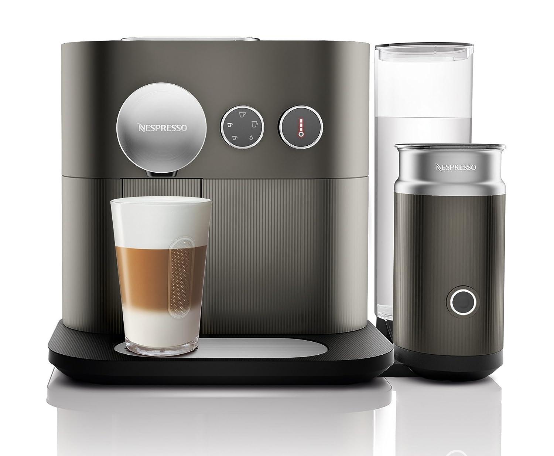 GAE - Cafetera monodosis de cápsulas Nespresso con aeroccino, controlable con smartphone mediante bluetooth, 19 bares, apagado automático, ...