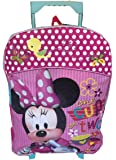 "Disney Minnie Mouse 16"" Rolling Backpack Large Pink"