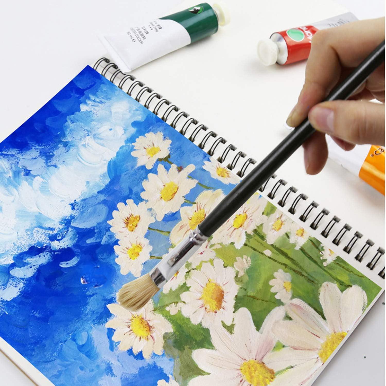 2pcs Sketch Books A5 32K Top Spiral-Bound Blank Diary Diario Pad Planner Con Kraft Cover per disegno 30 fogli 60 pagine