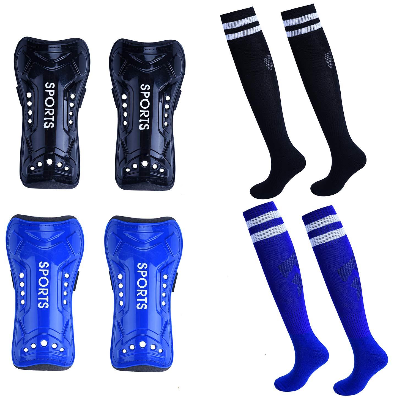 5649aa05397 JCREN Youth Socks Guard Soccer Shin Guards 2 Pair 3 Size Shin Pad Football Soccer  Gear