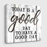 Motivational and Inspiring Wall Art Prints- TODAY IS A GOOD DAY - Rustic Artwork Decoration for Home and Office…