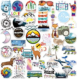 50Pcs Outdoor VSCO Stickers for Water Bottles Waterproof Vinyl Stickers Laptop Sticker for Kids,Cute Decal Stickers Perfect for Laptop,Hydro Flask,Phone,Car,Travel,Scooter