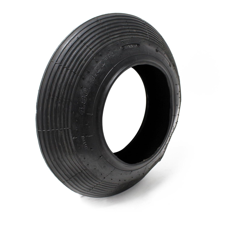 Wiltec Copertone Universale per Ruota pneumatica carriola 4.00-8//400 x 100 mm 120kg