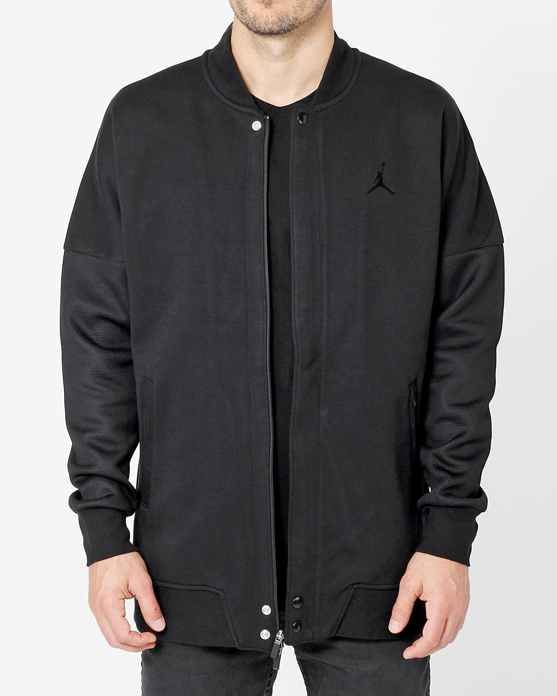 Jordan Black/Black Air Jordan The Varsity Jacket by Jordan