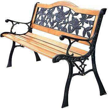Patio Parque Banco de jardín porche camino silla muebles hierro ...