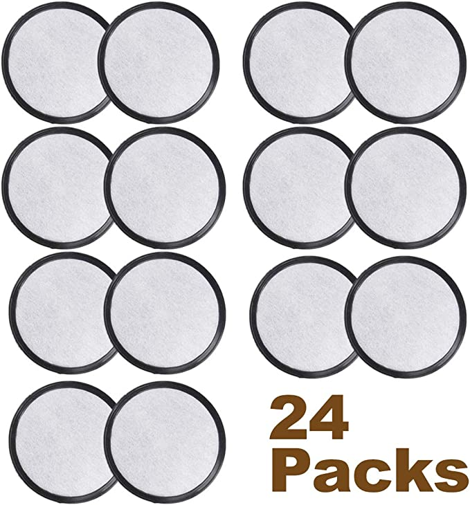 HiWater 24 Packs Coffee Filters Discs Compatible with Mr Coffee Filter Replacement Coffee Marker Filter Disks