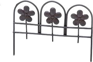 DARICE Mini Rustic Metal Fence 2.5X3.25In, Multicolor