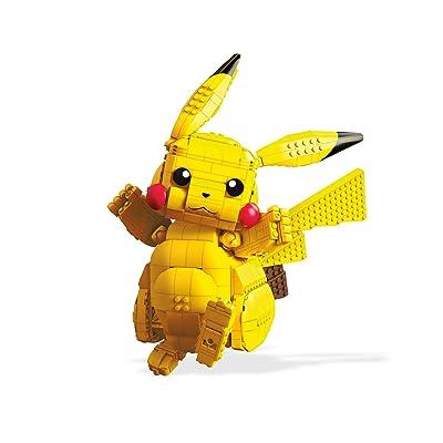 Mega Construx Pokemon Figura Jumbo Pikachu, Juguetes de Construcción Niños +8 Años (Mattel FVK81): Juguetes y juegos